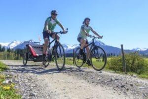 E-Bike und Fahrradanhänger