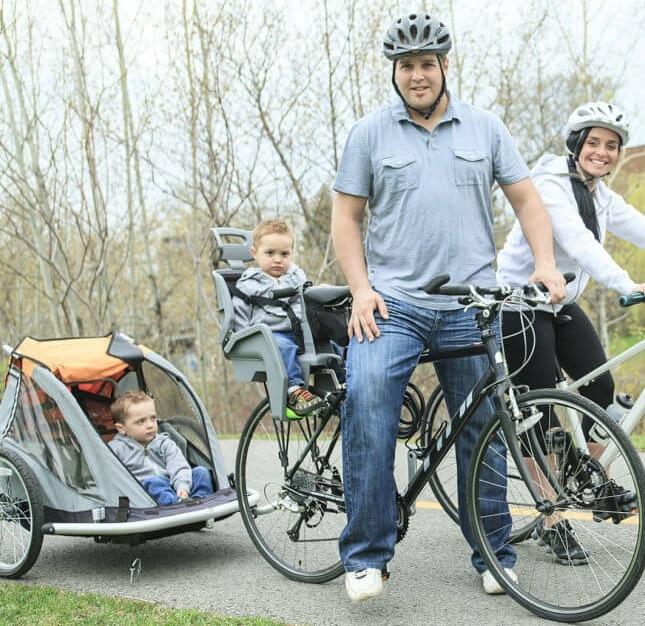 Fahrradanhänger oder Kinderfahrradsitz